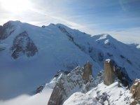 Mont Blanc et arête des Cosmiques